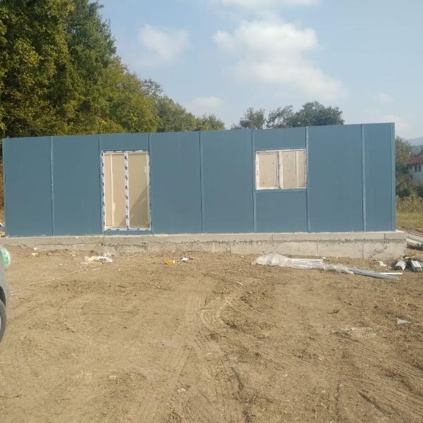 Prefabrik ev yapım işimiz Akağaç köyünde devam ediyor